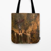 sasquatch Tote Bags featuring The Sasquatch by TheDiGio