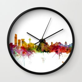 Liverpool England Skyline Cityscape Wall Clock