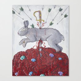 Death of a Happy Rabbit Canvas Print