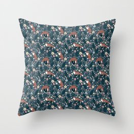 There's a fox in the garden Throw Pillow