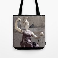 postcard Tote Bags featuring Rome postcard by Miz2017