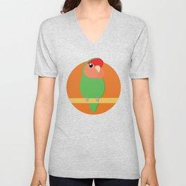Peach Faced Lovebird Unisex V-Neck