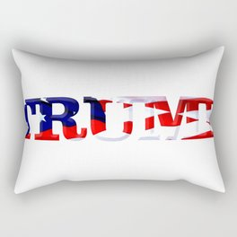 "The word ""Trump"" ie President Trump with the American Flag from Fort McHenry overlayed. Rectangular Pillow"