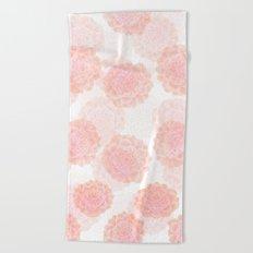 pink succulents Beach Towel