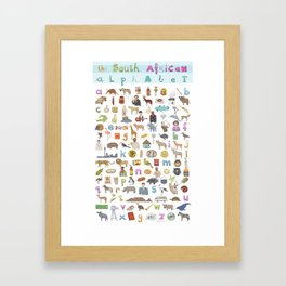 The South African Alphabet Framed Art Print