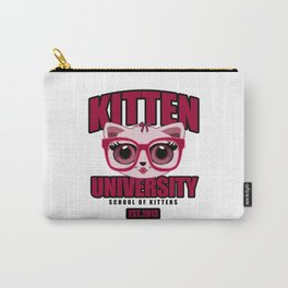 Kitten University - Pink Carry-All Pouch