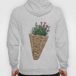 flower in bloom in the hanging basket Hoody