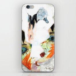 Swan mask iPhone Skin