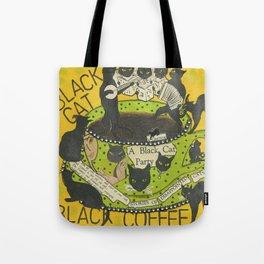 Black Cat Black Coffee Tote Bag