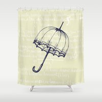 umbrella Shower Curtains featuring Umbrella by Mr and Mrs Quirynen