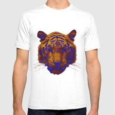 Tiger Pop Mens Fitted Tee MEDIUM White