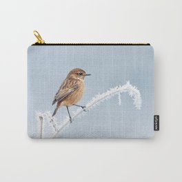 Stonechat in Winter Carry-All Pouch