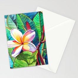 Plumeria Garden Stationery Cards