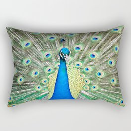 """Charmer"" the peacock Rectangular Pillow"