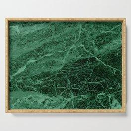Dark emerald marble texture Serving Tray