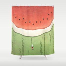 Fleshy Fruit (Watermelon) Shower Curtain