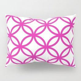 Interlocking Pink Pillow Sham