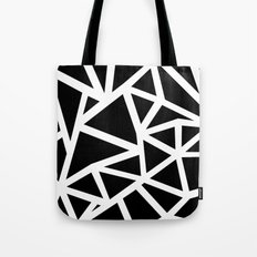 Ab Outline Thicker Black Tote Bag