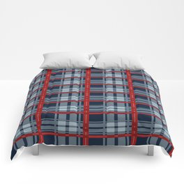 Red Line White And Red Lumberjack Flannel Pattern Comforters