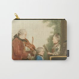 The Mozart family on tour: Leopold, Wolfgang, and Nannerl. Watercolor by Carmontelle, ca. 1763 Carry-All Pouch