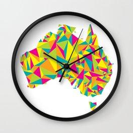 Abstract Australia Bright Earth Wall Clock