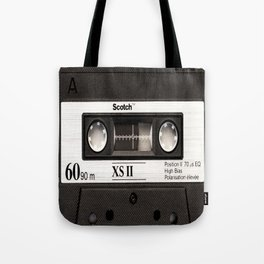 Cassette Tape Black And White #decor #homedecor #society6 Tote Bag