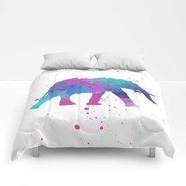 Elephant Watercolor I Comforters