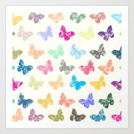Colorful butterflies Art Print