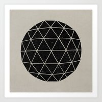 retro Art Prints featuring Geodesic by Terry Fan