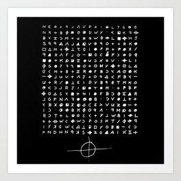 Zodiac killer Art Print