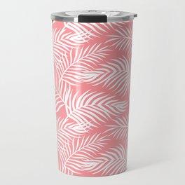 Palm Leaves_Pink Travel Mug