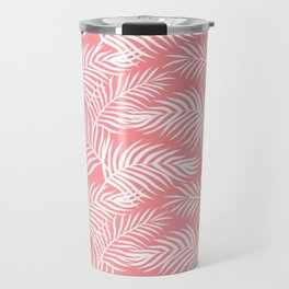 Palm Leaves_Pink Travel Mug