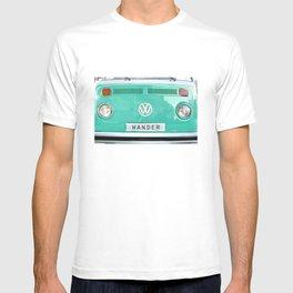 Wander wolkswagen. Summer dreams. Green T-shirt