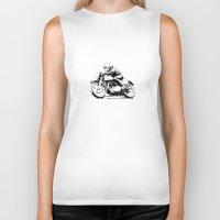 motorcycle Biker Tanks featuring Vintage Motorcycle by Rik Reimert