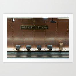 Metropolitain 10 | Arts et Métiers - Paris Metro Photo print Art Print