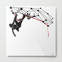the Climber Metal Print
