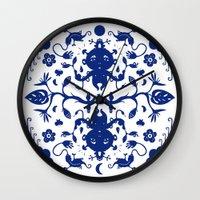 jungle Wall Clocks featuring JUNGLE by RUEI