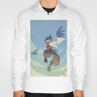 starfox Hoodies featuring Falco Lombardi  by Taylor Barron