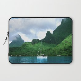 Sailboat in Cook's Bay: Moorea, South Pacific Laptop Sleeve