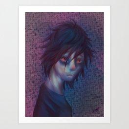 Daemon Character portrait Art Print