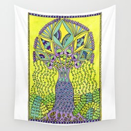 Tree Lime Wall Tapestry