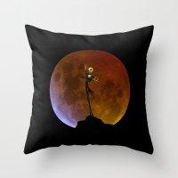jack skellington Throw Pillows featuring NIGHTMARE JACK SKELLINGTON by alexa
