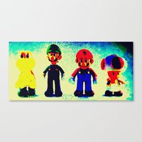 mario bros Canvas Prints featuring Super Mario Bros. by Silvio Ledbetter