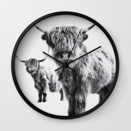 HIGHLAND COW - LULU & SARA Wall Clock