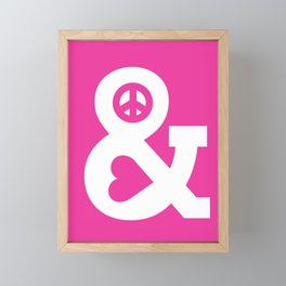 Peace and Love (pink edition) Framed Mini Art Print
