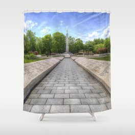 Soviet War Graves Budapest Shower Curtain