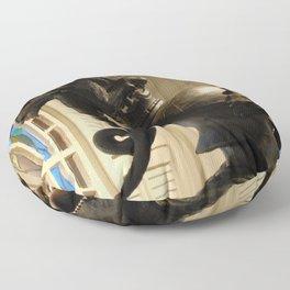 Dragon On Head Floor Pillow