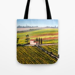 Vineyards In Tuscany Italy Tote Bag