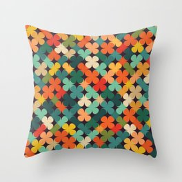 Lucky Clover Throw Pillow