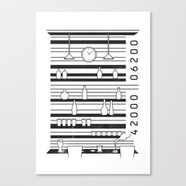 Bar code Canvas Print